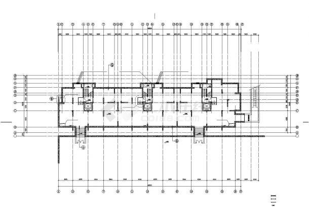 某住宅小区小跑道住宅楼建筑CAD设计图纸4乘50米接力高层设计图图片