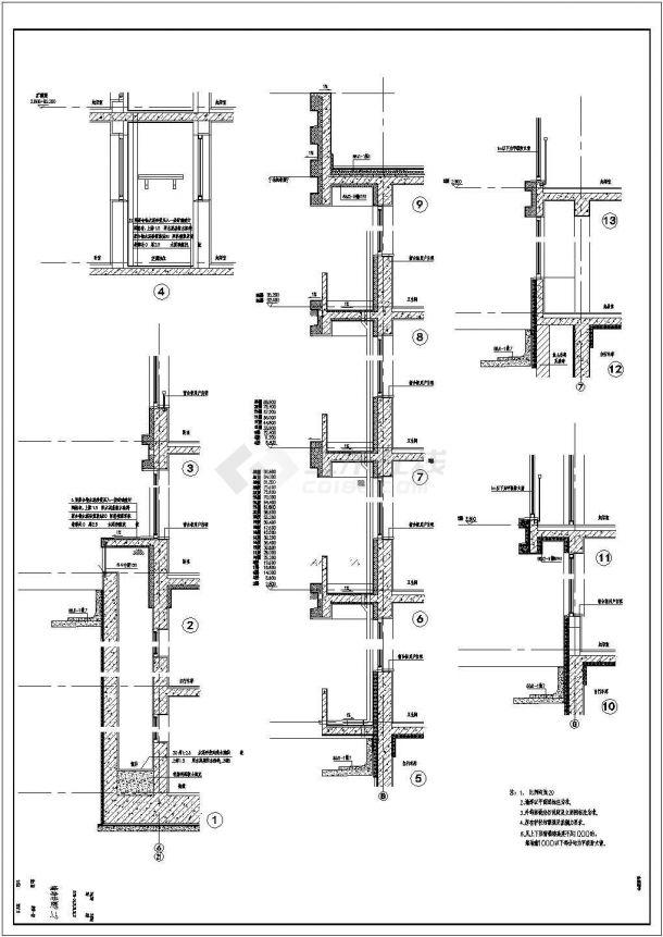 某现代楼群建筑九宫cad设计建施图平面设计小区格设计图片
