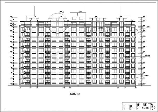 [青岛]某住宅小区一期工程住宅楼建筑设计cad彭冲微博品牌v工程设计师图片