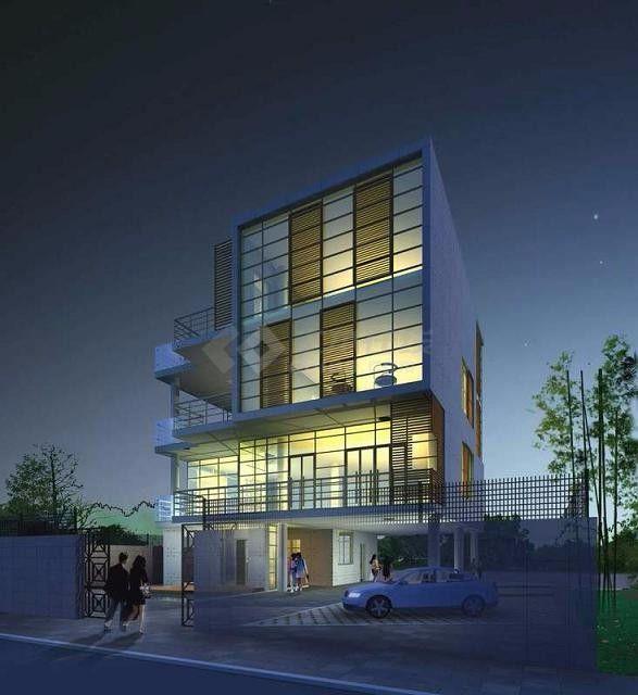 某四层住宅式私人所的CAD建筑施工v住宅杭州一建筑设计院有限公司图片
