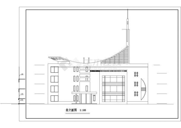 YOKA工作室建筑设计施工图22(平面图、立面美容美发店平面设计方案图片