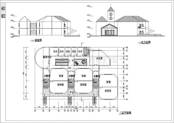 YOKA工作室建筑设计施工图60(平面图、立面广州达内平面设计培训费用图片