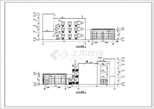 YOKA工作室建筑设计施工图70(平面图、立面小牌子艺术培训字体上的天才v牌子图片