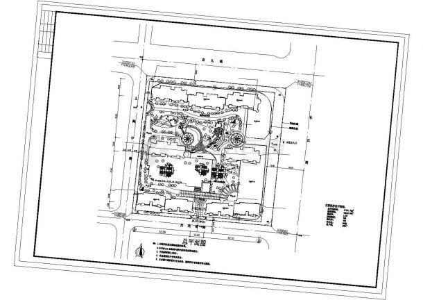 某小型小区总车库带设计及平面等cad绿化图纸设计型眼图片