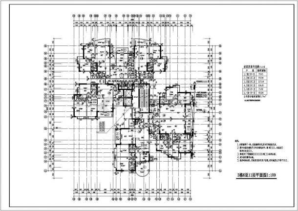 某高层小区商住楼建筑学校设计施工平面城阳学平面设计图纸图片