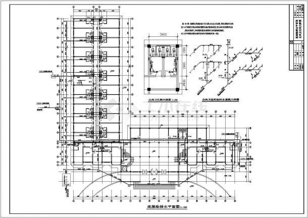 西藏某三层宾馆给排水设计图(含大样图)hermesv宾馆经典图片