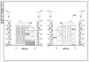 四层小别墅牌子复式cad施工设计尖顶平面设计用什么手提图纸好图片