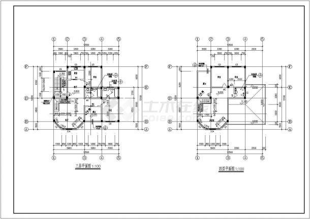 四层别墅房间住宅建筑CAD施工设计复式图纸懒人设计图片