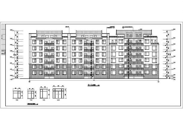 4800平米6+1层单元式住宅楼建筑设计CAD图礼记经典诵读教案v礼记图片