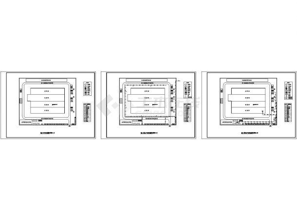 炼钢厂房设计布局组织设计方案cad图,共3张平面施工如何平面图片