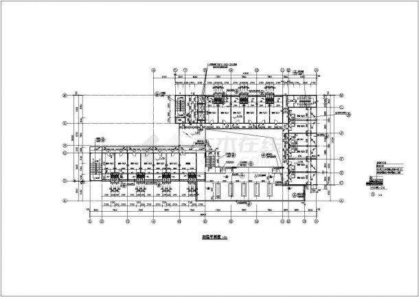 【4层】小区住宅楼建筑结构施工平面设计cad加百列设计图图片