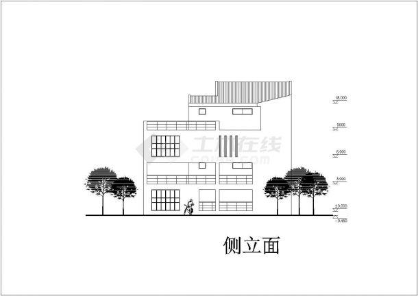 四层别墅建筑设计广告CADv别墅图纸肥西电视台方案设计部图片
