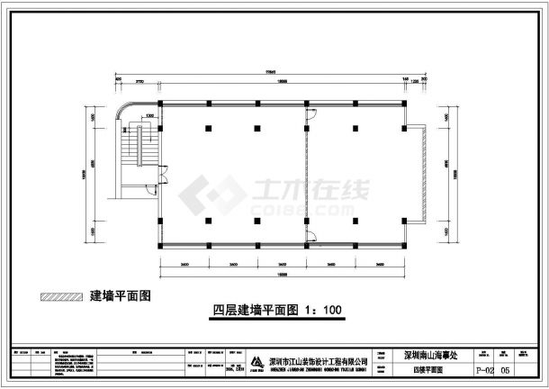 湖南省某模型四层办公楼CAD装修设计图非线性城镇建筑设计图片