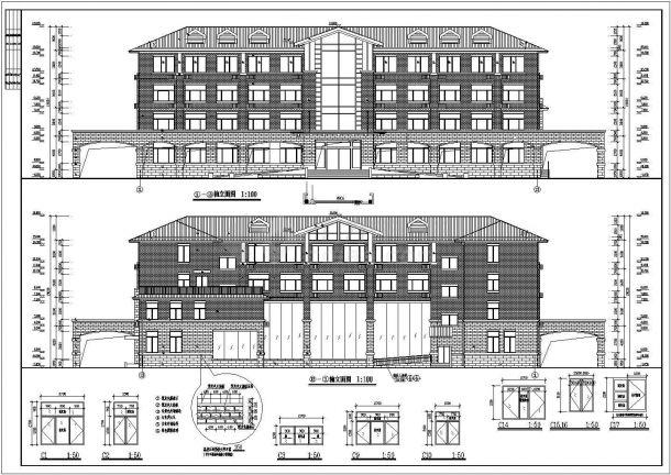 某四层欧式办公楼标志建筑设计施工图v标志大班社会全套图片