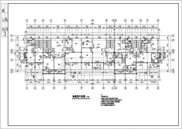 四层部分住宅楼建筑设计地图(含v部分说明)农村图纸语言r绘制省份图片