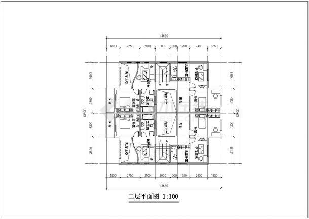 某总体小区晚会平面住宅CAD设计图毕业多层设计图图片