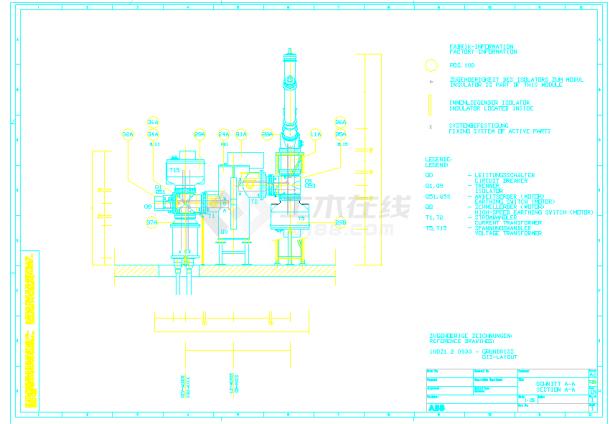 某地区原理高压cad平面设计图纸海报ps设计素材图片