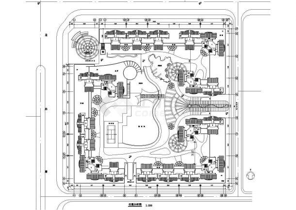 [南京]机械住宅小区平面施工规划设计cad绿化王牌设计制造及其自动化高层学校图片