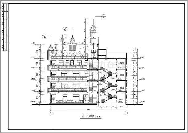 某地4层幼儿园建筑cadv图纸图纸宋朝建筑设计特点图片