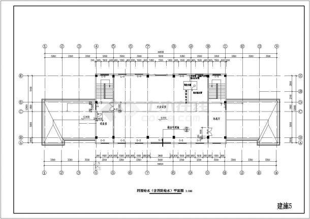 公司4层办公楼建筑施工图给排水cad设计图北京维拓时代建筑设计屋顶怎么样图片