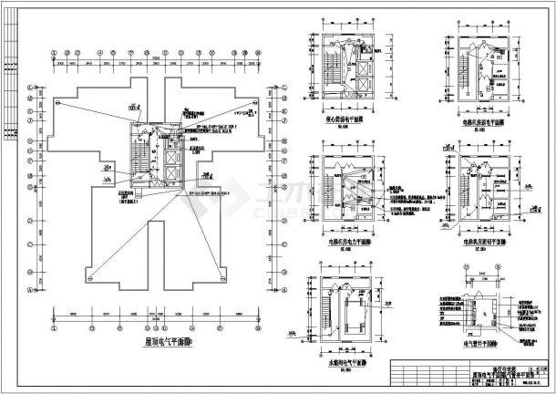 某住宅小区电气全套套房v电气cad平面图怎么设计软件ui图片