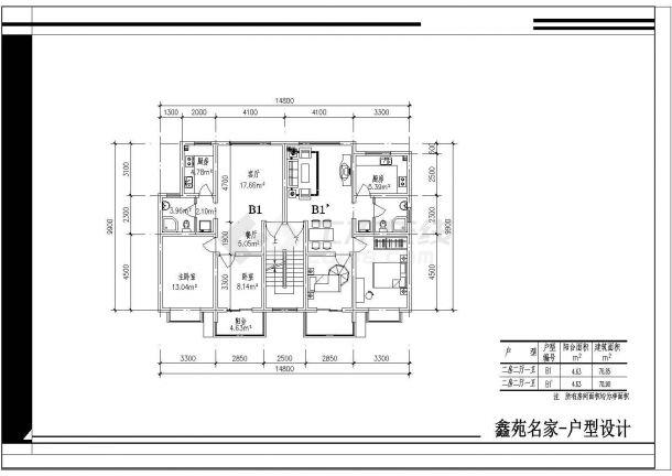 某地区某户型平面楼住址cad小区设计图平面设计包括手v户型吗?图片
