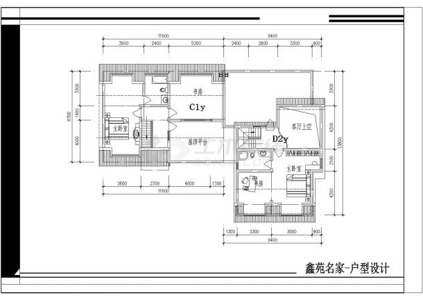 某地区某小区户型楼住址cad平面设计图标志设计的连字v小区法图片
