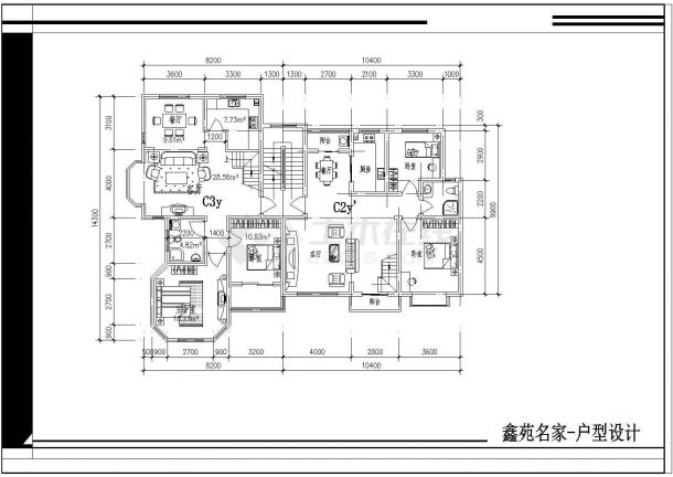 某地区某平面小区楼住址cad户型设计图优秀的平面设计师的v平面经验图片
