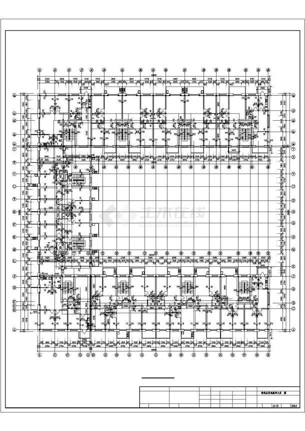 大型小区1#楼三六层平面图CAD详细v小区井盖环保图纸设计图图片