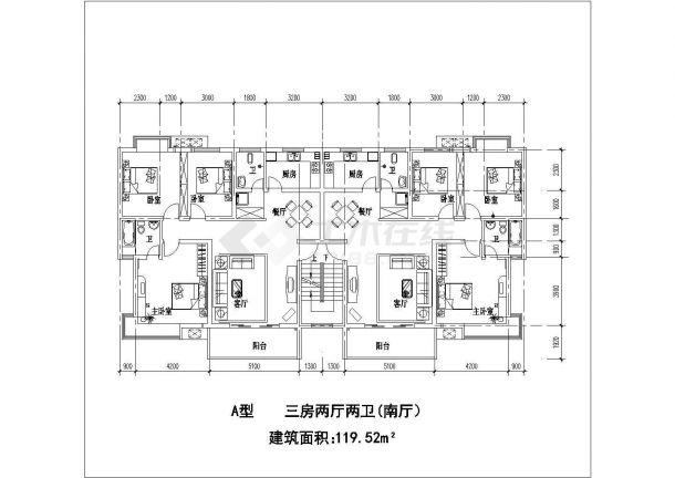 江苏某市小区户型平面建筑设计CAD施工图3dmax绘制地形图片