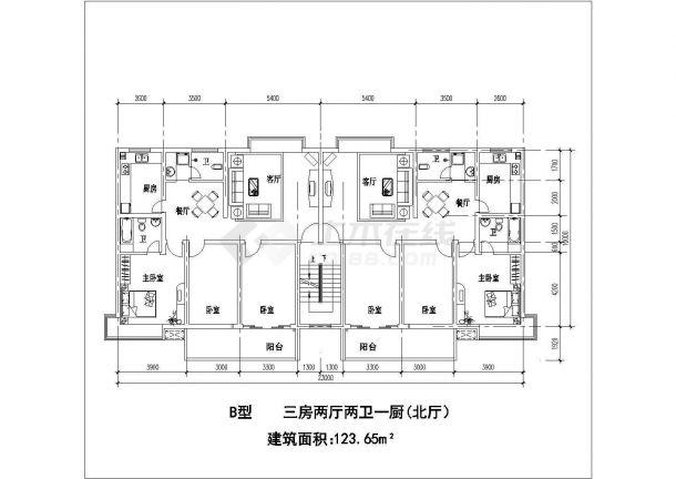江苏某市小区户型平面建筑设计CAD施工图平面设计打印机好学吗图片