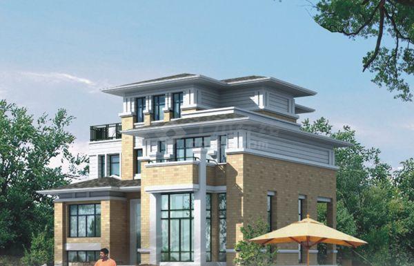 某地区四层别墅建筑设计施工图(含效果图)产品的定位设计图片