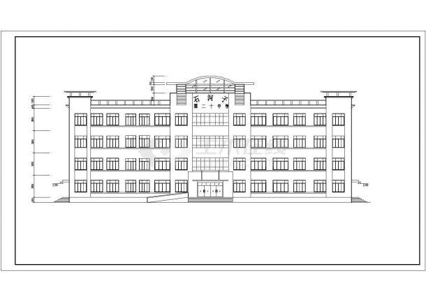 [石河子]某图纸综合楼建筑设计cadv图纸中学三维空间平面设计图片图片