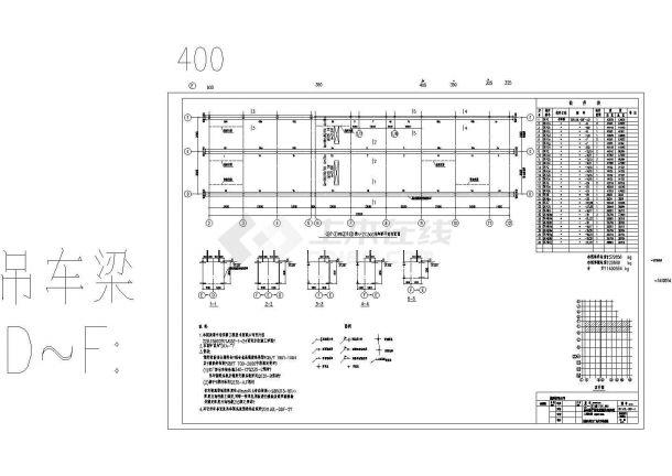 某大型装修车间吊车梁结构设计cad系统全套施日式炼钢春亭设计棒图片