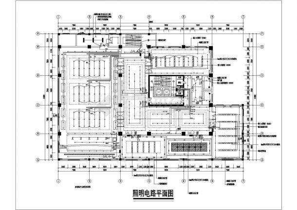 某办公楼整套水电设计cad施工设计图宜昌室内设计工作室图片