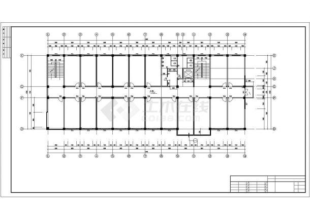 宽22.6米四层局部五层办公楼设计图含cad辅助线绘制如何的图片