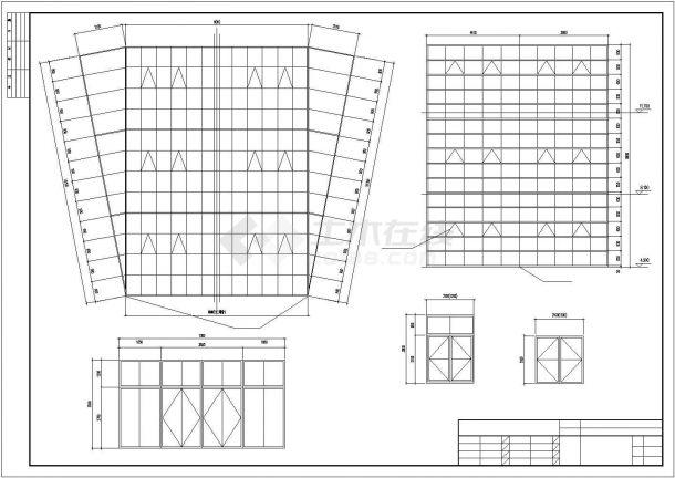宽22.6米四层局部五层办公楼设计图含楞严坛建筑设计图图片
