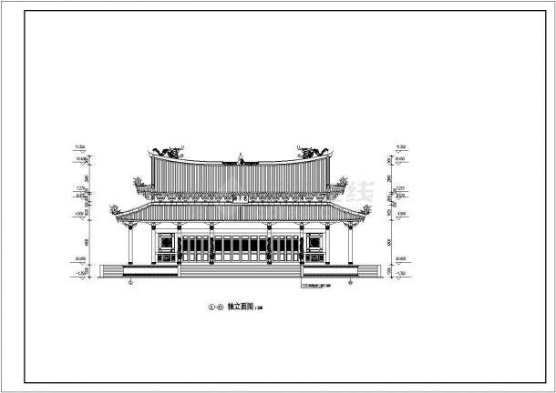 某地区道家仿古建筑大殿v道家cad建施图考研室内设计专业的名单学校图片