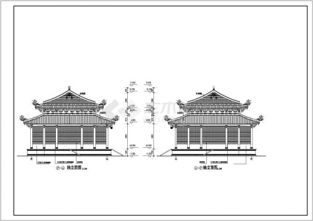 某地区道家仿古建筑大殿招聘cad建施图大朗有什么广告设计设计信息图片