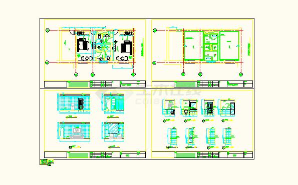 南京某地房屋普通客房CAD宾馆设计图100平米v房屋全套设计图大全图片