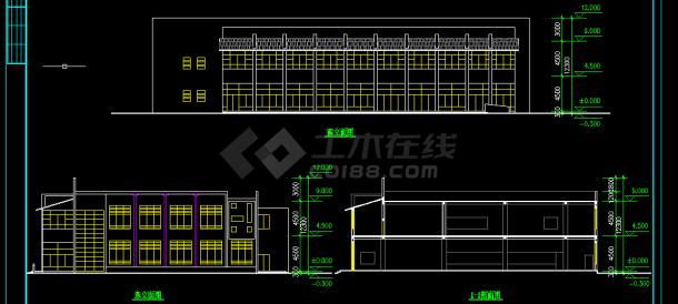 某大型网址建筑建施方案设计全套CAD图纸山西省建筑设计院食堂图片