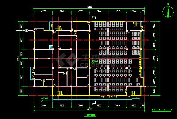 某大型图纸建筑建施方案设计道路CAD全套食堂cad平面设计图片