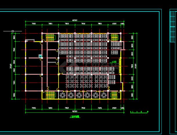 某大型食堂建筑建施方案设计图纸CAD全套mathcad绘制bode图片