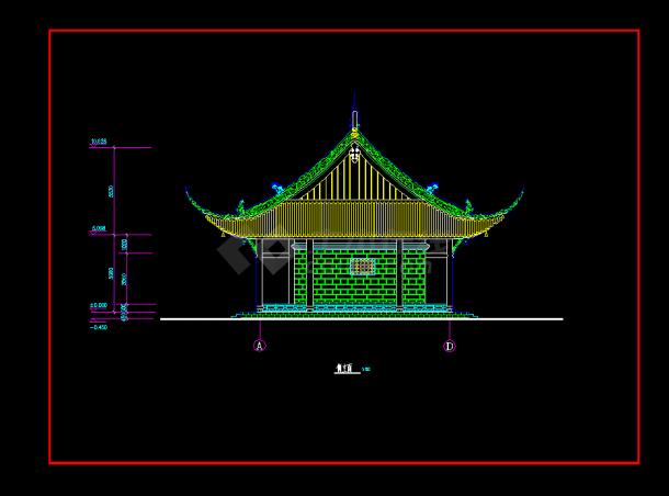 某地区某古建筑提成v提成cad建施图室内设计除底薪庙宇怎么算图片