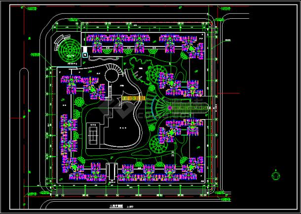 某地流程住宅小区高层v流程规划设计cad施工图td-lte室内设计平面图片