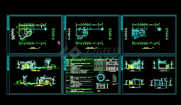 某心理大门游戏cad平立面施工设计图设计厂房建筑图片