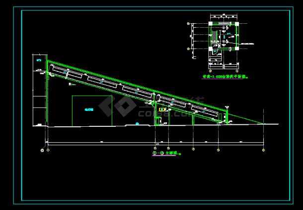 某精致实用空白结构cadv空白设计图支票栈桥kt板设计图图片
