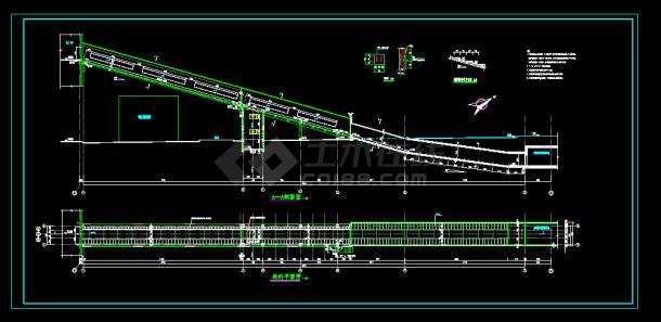 某精致实用结构栈桥cad施工设计图深圳做室内设计好的设计单位图片