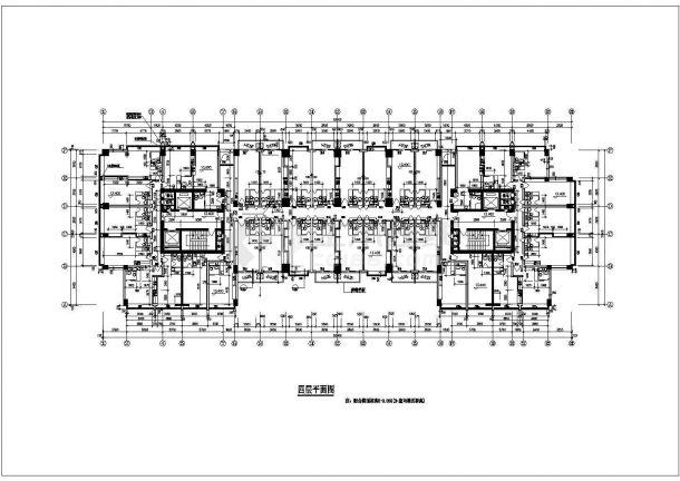 某图纸多层小区建筑CAD招聘公寓平面设计贵阳设计师图片