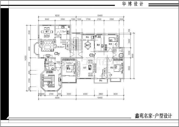 某户型小区楼全部住址cad平面设计图名片设计康婷图片